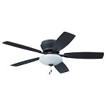 Espresso Hugger Ceiling Fan with Light Kit - 372229
