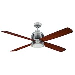 Polished Nickel Ceiling Fan with Light Kit - 372239
