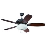 Espresso Ceiling Fan with Blades and Light Kit - 372292