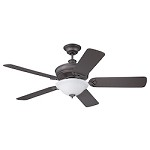 Espresso Finish Ceiling Fan with Blades & Light Kit - 372297