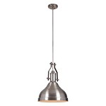 1 Light Pendant with Metal Shade - 372300