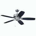 52 Ceiling Fan with Blades in Polished Nickel Finish - 372308