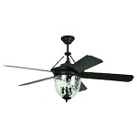 52 Ceiling Fan with Light Kit and Aged Bronze Finish - 372311