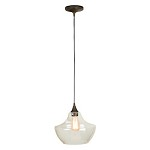 1 Light Mini Pendant with Clear Glass Shade - 372337