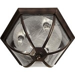 Three Light Antique Bronze Outdoor Flush Mount - Forte 1720-03-32