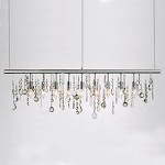 Chrome Crystal Linear Pendant Lamp - 380476
