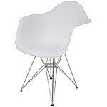 White Armchair Ray Dining Chair - 381235