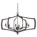 Middletown 6 Light Oval Chandelier Downton Bronze - 382088