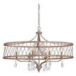 West Liberty 6 Light Gold Chandelier - 382094