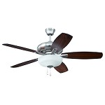 "Forza Brushed Polished Nickel 52"" Ceiling Fan with Light - 390704"