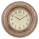 Mackenzie Clock - Pressed copper over wood - 393355