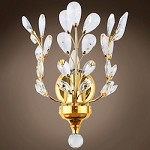 1 Light Wall Sconce in Gold Finish with European Crystals - 396471