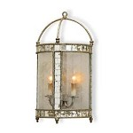 Harlow Silver Leaf Corsica Wall Sconce