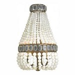 Pyrite Bronze / Cream / Gray Lana 2 Light Wall Sconce with Glass Beaded Shade