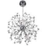 32 Light Hanging Pendant Light in Chrome Finish with Clear Crystal - Joshua Marshal 700078-001