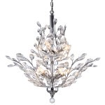 10 Light Crystal Chandelier Light in Chrome Finish with European Crystals - Joshua Marshal 700108-001