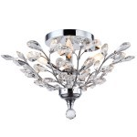 4 Light Crystal Ceiling Flush Mount Light in Chrome Finish with Clear Crystals  - Joshua Marshal 700111-001