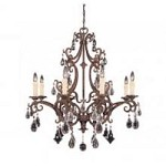 Eight Light New Tortoise Shell Crystal Full Cut Clear Up Chandelier - Savoy House 1-1401-8-56