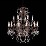 Eighteen Light New Tortoise Shell Crystal Clear Up Chandelier - Savoy House 1-1404-18-56