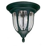 Two Light Clear Seeded Glass Textured Black Outdoor Flush Mount - Savoy House 5-1505-BK
