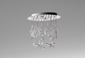 "Mirabelle Collection 4-Light 29"" Chrome Flush Mount with Clear Glass 04668"