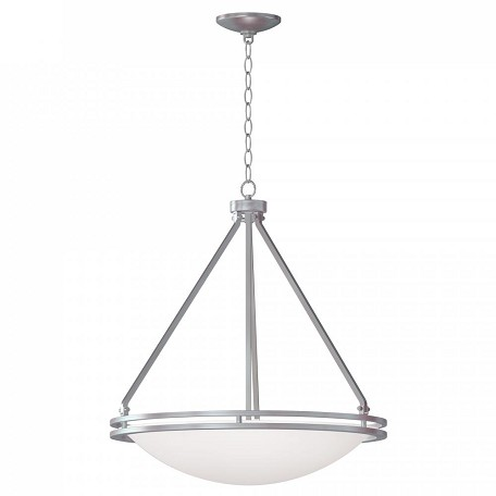 Brushed Steel / White Aztec 5 Light Pendant