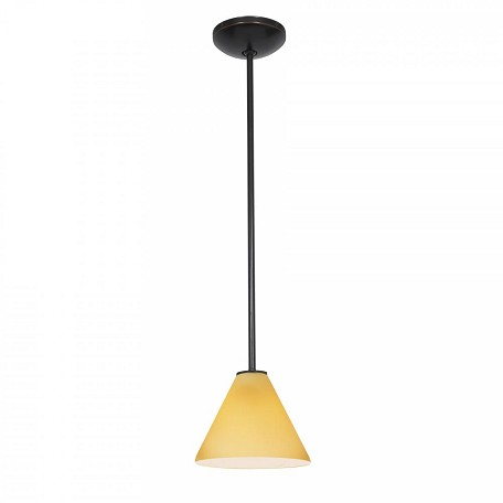 Oil Rubbed Bronze / White Julia 1 Light Mini Pendant