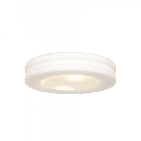 White / Opal Altum 2 Light Flush Mount Ceiling Fixture