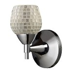 "Celina Collection 1-Light 6"" Polished Chrome Wall Sconce with Silver Glass 10150/1PC-SLV"