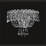 Empire Design 2-Light 12'' Gold or Chrome Wall Sconce with European or Swarovski Crystals  SKU# 10198
