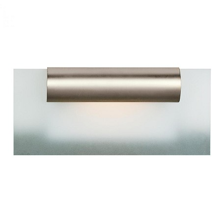 Satin Chrome / Frosted Single Light Down Lighting 12In. Wide Bathroom Fixture From The Roto Collection