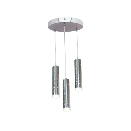 Chrome / Acrylic Rain 3 Light Multi Light Pendant