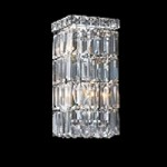 "Ibiza Design 2-Light Rectangular 12"" Chrome Wall Sconce with European or Swarovski Crystal SKU# 10327"