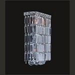 "Ibiza Design 4-Light Rectangular 16"" Chrome Wall Sconce Bathroom Vanity Fixture with European or Swarovski Crystal SKU# 10328"