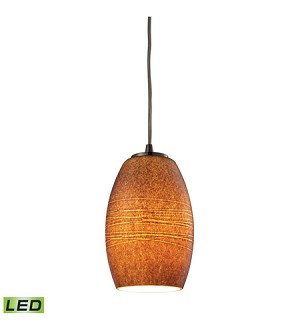 ELK Lighting Pendant - 10330/1TBR-LED