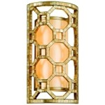 "Regatta Collection 2-Light 17"" Stained Silver Leaf Wall Sconce with Genuine Smoked Capiz Shell Mosaic 104-12"