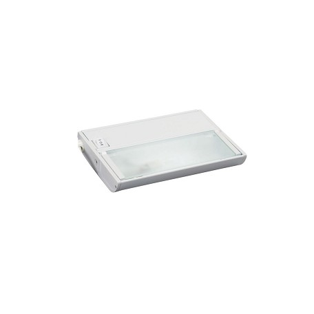 White TaskWork Modular 1 Light 7in. Under Cabinet Light with Cord and Plug- 12V Xenon
