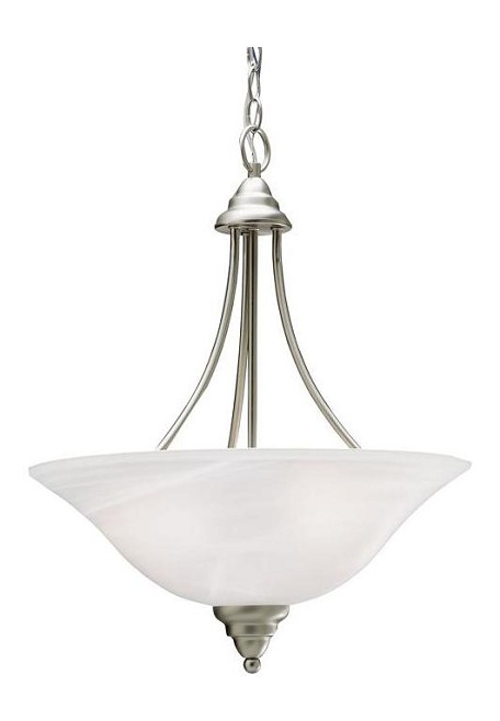 Kichler Three Light Brushed Nickel Up Pendant - 10706NI