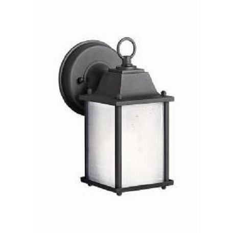 Black 1 Light 9in. Energy Efficient Fluorescent Outdoor Wall Light