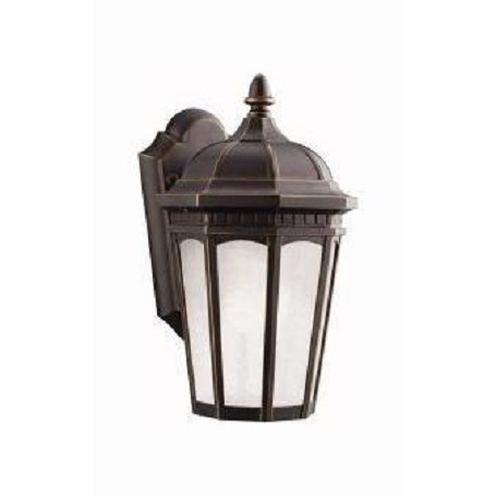 Rubbed Bronze Courtyard 1 Light 11in. Energy Efficient Fluorescent Outdoor Wall Light