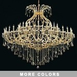 Maria Theresa Design 49-Light 72'' Wide Chrome or Gold Grand Entry Chandelier Dressed with Swarovski or European Crystals SKU# 10413