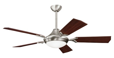 Antique Pewter 54in. Indoor Ceiling Fan with 5 Blades - Includes Cool-Touch Remote, Light Kit and 12in. Downrod