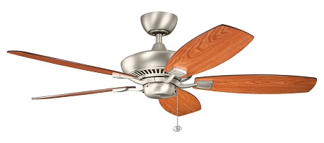 Brushed Nickel Canfield 52in. Indoor Ceiling Fan with 5 Blades - Includes 4in. Downrod