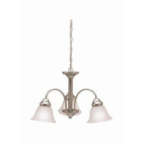 Brushed Nickel Wynberg Single-Tier  Chandelier with 3 Lights - 72in. Chain Included - 36 Inches Wide