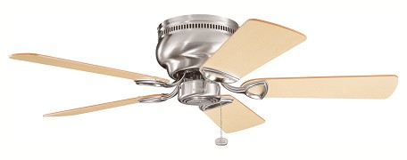 Matte White Stratmoor 42in. Flush Mount Indoor Ceiling Fan with 5 Blades