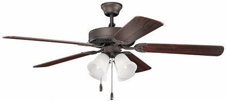 Kichler Satin Natural Bronze Ceiling Fan - 402SNB