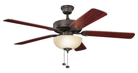 Kichler Satin Natural Bronze Ceiling Fan - 403SNB