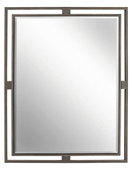 "Hendrik Collection Olde Bronze 30"" High Rectangular Wall Mirror 41071OZ"