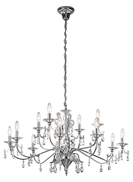 Kichler Twelve Light Chrome Up Chandelier - 42340CH