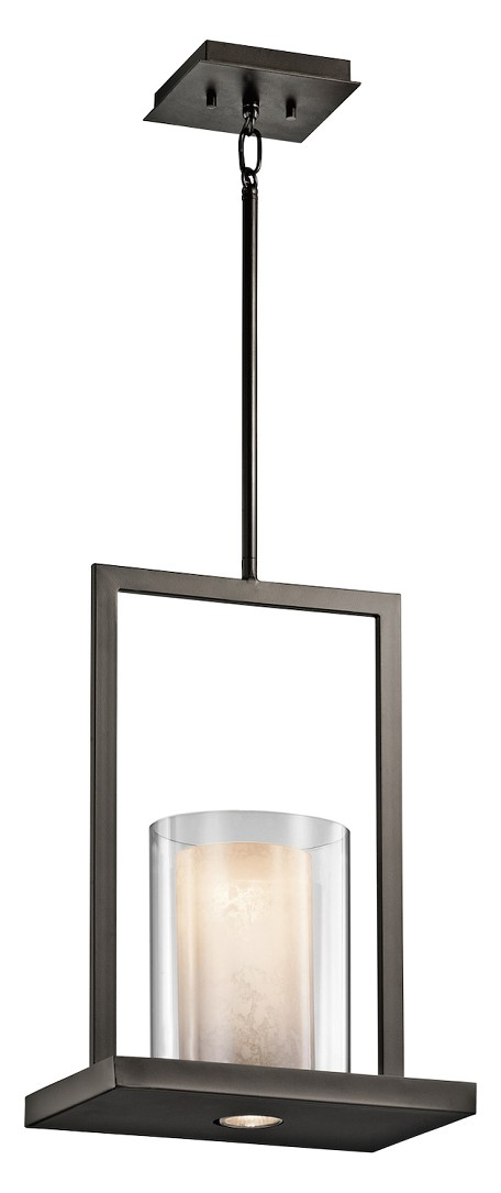 Kichler Two Light Olde Bronze Up Pendant - 42549OZ